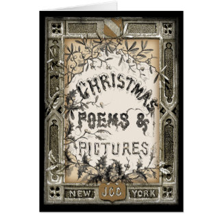 Vintage Victorian Book Cover Christmas Card