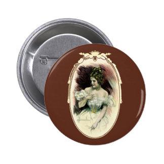 Vintage Victorian Bridal Portrait Pin