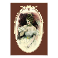 Vintage Victorian Bridal Portrait Invites