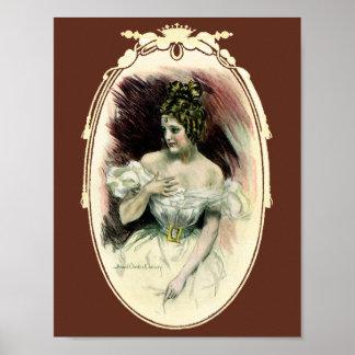 Vintage Victorian Bridal Portrait Poster