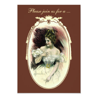 Vintage Victorian Bridal Shower Party Invitation