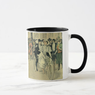 Vintage Victorian Bride and Groom Newyweds Bicycle Mug