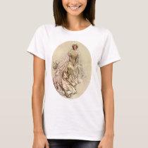 Vintage Victorian Bride, Antique Bridal Portrait T-Shirt