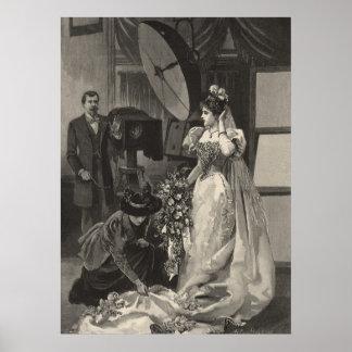 Vintage Victorian Bride, Bridal Portrait Print