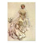 Vintage Victorian Bride Flowers, Bridal Portrait Cards