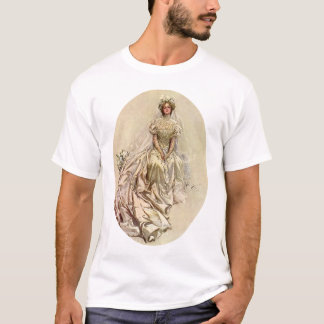 Vintage Victorian Bride Flowers, Bridal Portrait T-Shirt
