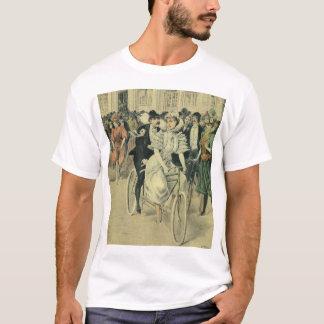 Vintage Victorian Bride Groom Ride Tandem Bicycle T-Shirt