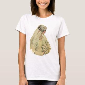 Vintage Victorian Bride in Profile Bridal Portrait T-Shirt