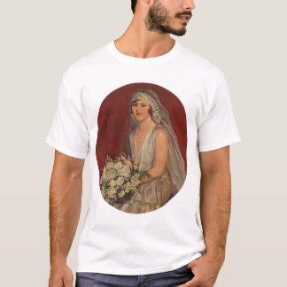 Vintage Victorian Bride Posing for Bridal Portrait T-Shirt