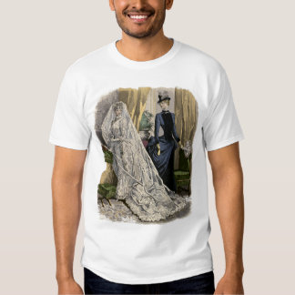Vintage Victorian Bride, Wedding Bridal Portrait Tee Shirt