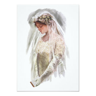 Vintage Victorian Bride with Bible Harrison Fisher Card