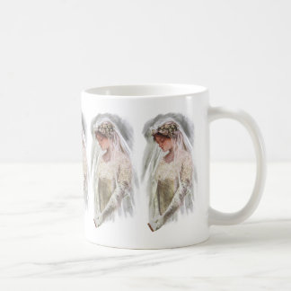 Vintage Victorian Bride with Bible Harrison Fisher Coffee Mug