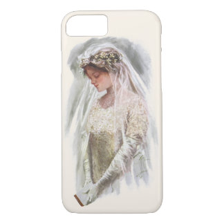 Vintage Victorian Bride with Bible Harrison Fisher iPhone 7 Case