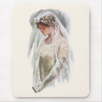 Vintage Victorian Bride with Bible Harrison Fisher Mouse Pad