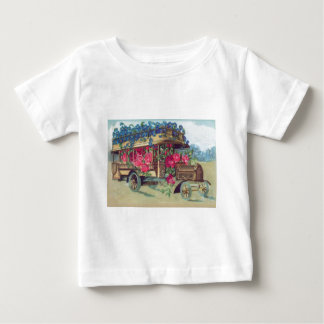 Vintage Victorian Bus Full of Easter Flowers Baby T-Shirt