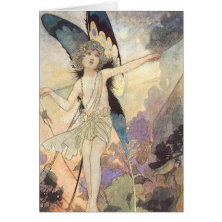 Vintage Victorian Butterfly Fairy by Robinson Card