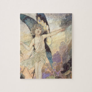Vintage Victorian Butterfly Fairy by Robinson Jigsaw Puzzle
