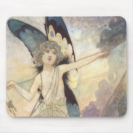 Vintage Victorian Butterfly Fairy by Robinson Mouse Pad
