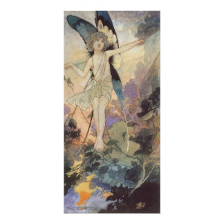 Vintage Victorian Butterfly Fairy by Robinson Poster