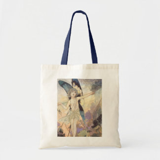 Vintage Victorian Butterfly Fairy by Robinson Tote Bag