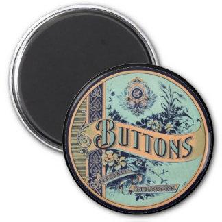 Vintage Victorian Button Label Magnet