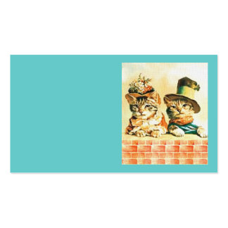 Vintage Victorian Cat Business Card Template