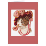 Vintage Victorian Cat Notes Greeting Cards