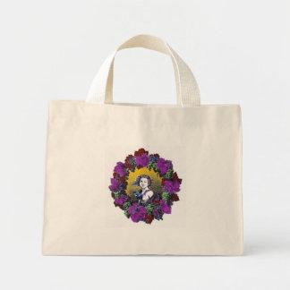 Vintage Victorian cherub graphic in a grape wreath Tote Bag