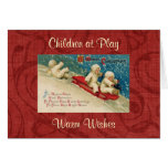 Vintage Victorian Children Christmas Greeting Card