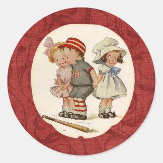 Vintage Victorian Children Fun Stickers