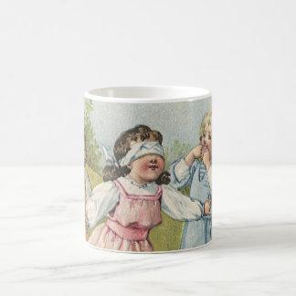 Vintage Victorian Children Playing Blindfold Games Coffee Mug