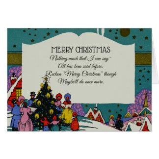 Vintage Victorian Christmas Carolers Holiday Card