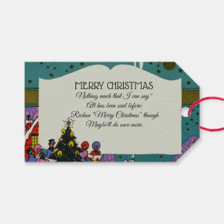 Vintage Victorian Christmas Carolers Holiday Gift Tags