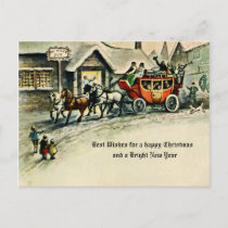 Vintage Victorian Christmas Holiday Horse & Buggy