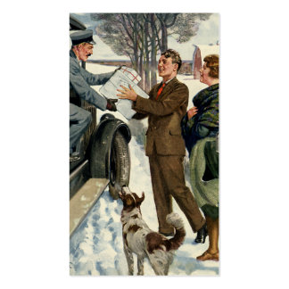 Vintage Victorian Christmas Mail Double-Sided Standard Business Cards (Pack Of 100)