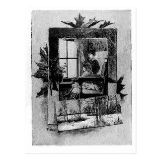 Vintage Victorian Christmas Scene Postcard