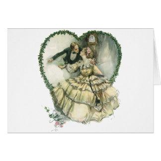 Vintage Victorian Christmas Wedding Card