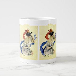 Vintage Victorian Christy Girl Masquerade Party 20 Oz Large Ceramic Coffee Mug