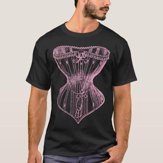 Vintage Victorian Corset Pink T-Shirt