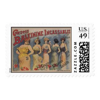 Vintage Victorian Corset Poster Postage