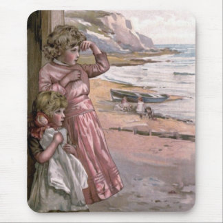 Vintage Victorian & Cute: Children at the Beach Mouse Pad