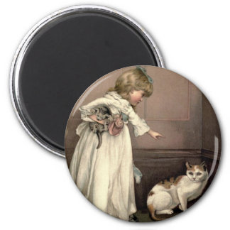 Vintage Victorian & Cute: Here Kitty, Kitty Magnet