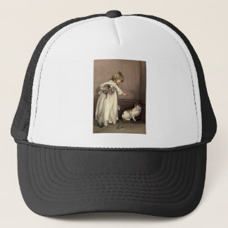Vintage Victorian & Cute: Here Kitty, Kitty Trucker Hat