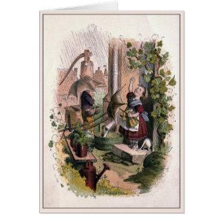 Vintage Victorian & Cute: Rainy Day Card