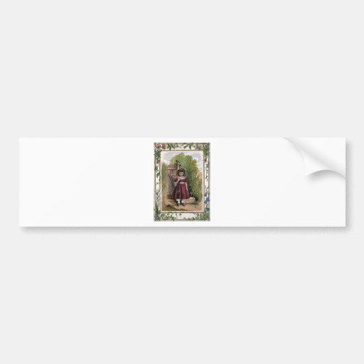 Vintage Victorian & Cute: The Girl in Red Bumper Sticker