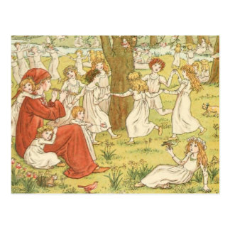 Vintage Victorian & Cute: The Pied Piper Postcard