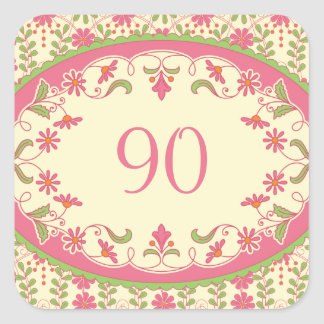 Vintage Victorian Daisy Birthday Stickers