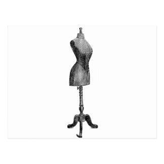 Vintage Victorian Dressform, Full Body Postcard