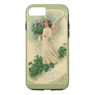 Vintage Victorian Easter Angel with Flowers iPhone 7 Case
