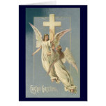 Vintage Victorian Easter Angels with a Cross Card